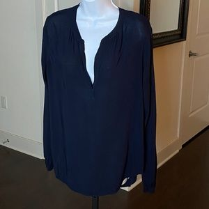 VELVET by Graham & Spenser Navy Blue Top